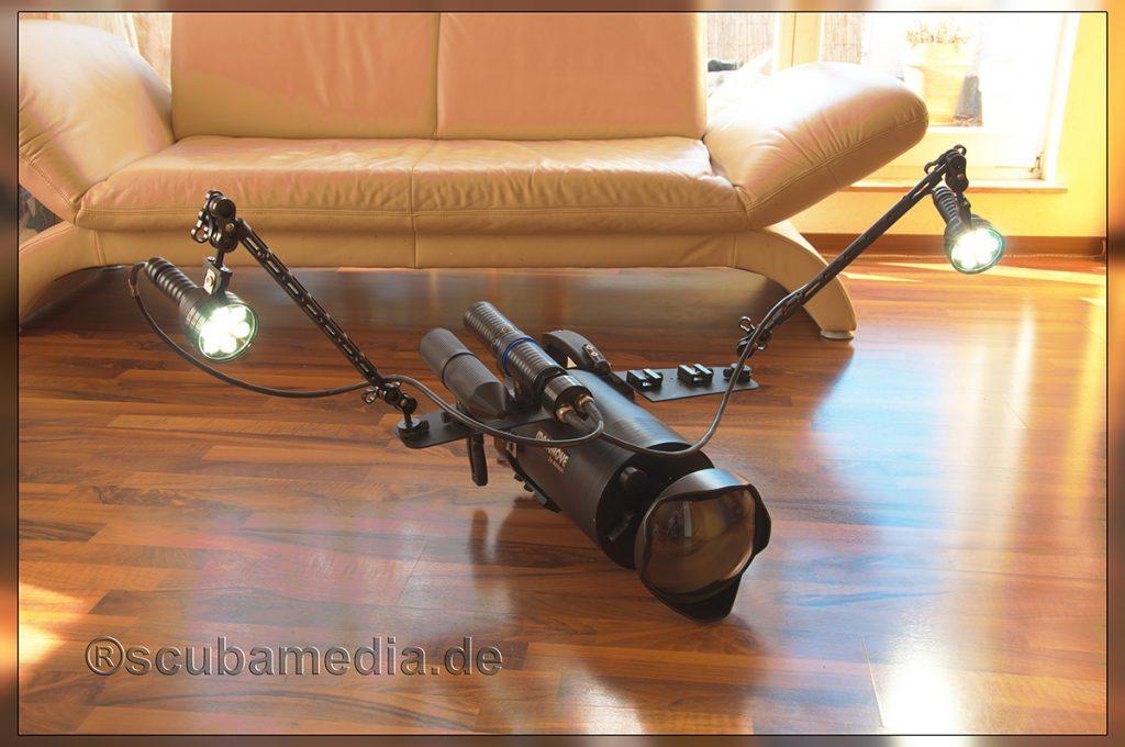Unterwasserkamera mit Lichtanlage